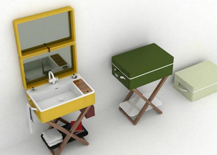 Итальянская компания Olympia Ceramica переосмысливает классический подход к созданию мебели для ванных комнат, предлагая инновационные и необычные решения. Примером такого решения является раковина My Bag, ключевой особенностью которой является ее портативность.