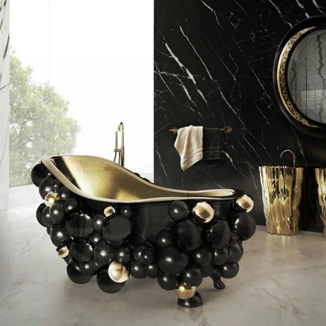 Компания Maison Valentina создала ванну «Ньютон» с весьма нестандартным «экстерьером». Корпус этого изделия отличается повышенной эстетичностью – хотя не каждому подобная стилистика придется по вкусу.