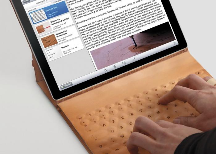 Оригинальный кожаный чехол-клавиатура.