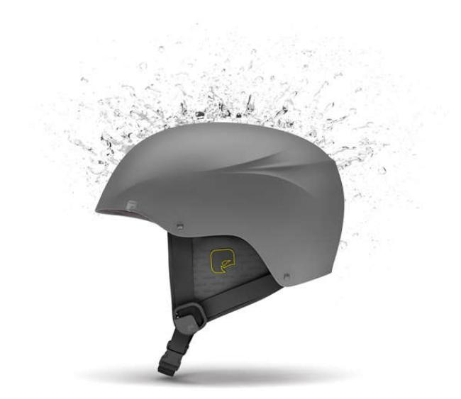 Стефан Радев создал защитный шлем Molecule H2O (Молекула «Аш» 2 «О» – вода) для любителей активного отдыха и экстремальных видов спорта. Это жесткий шлем, в котором для подключения дополнительных коммуникаций используется полностью водонепроницаемый модуль Bluetooth.