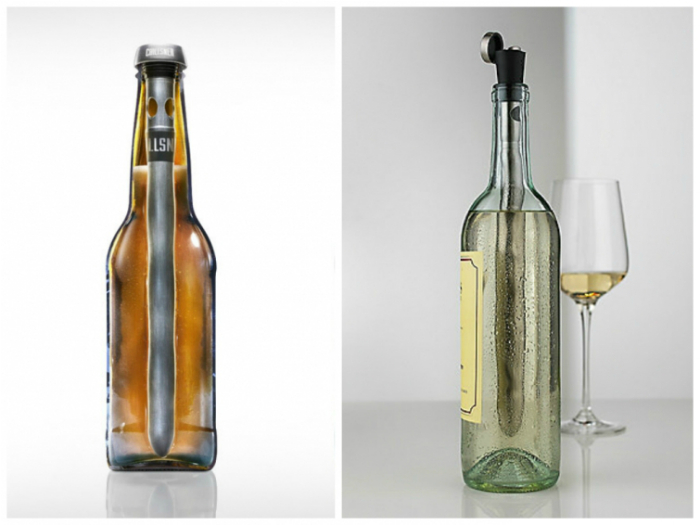 Необычный гаджет для быстрого охлаждения напитков под названием - Corkcicle One.