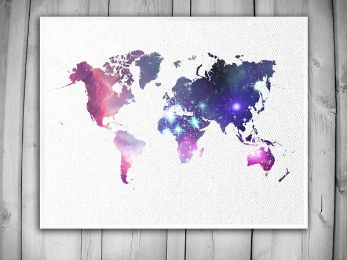 Звездная карта мира.
