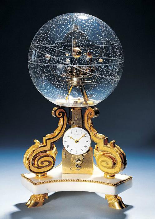Удивительные часы с галактическим шаром.