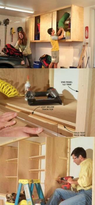 Отличная идея для создания такого шкафчика в своём гараже.