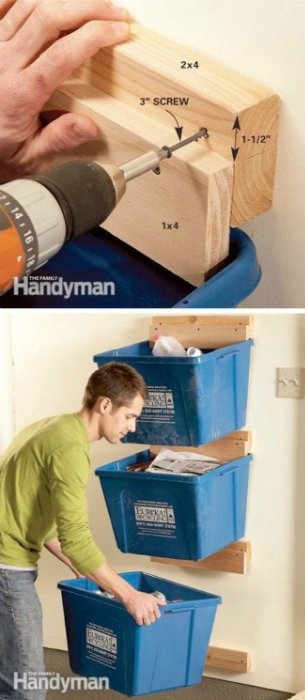 Как только система хранения становится не очень удобной для регулярного поддержания, гараж вновь превращается в стихийный склад.