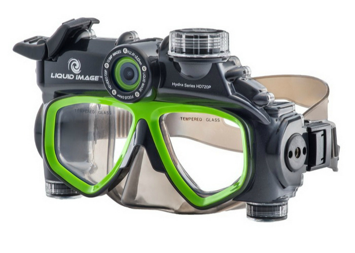 Liquid Image - это функциональный гаджет который сочетает в себе подводную маску и видеокамеру. Стоит такой девайс около 100 долларов.