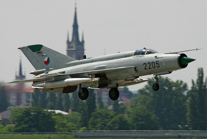 The first Soviet multipurpose fighter of the third generation with one engine - the MiG 21.