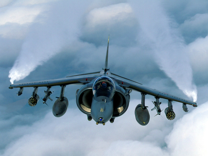 The first British fighter-bomber - Hawker Siddeley Harrier.