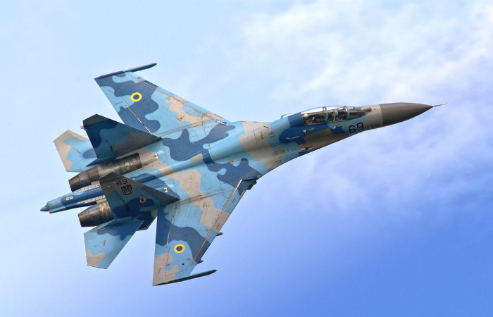Multipurpose Soviet fourth-generation fighter - the Su-27.