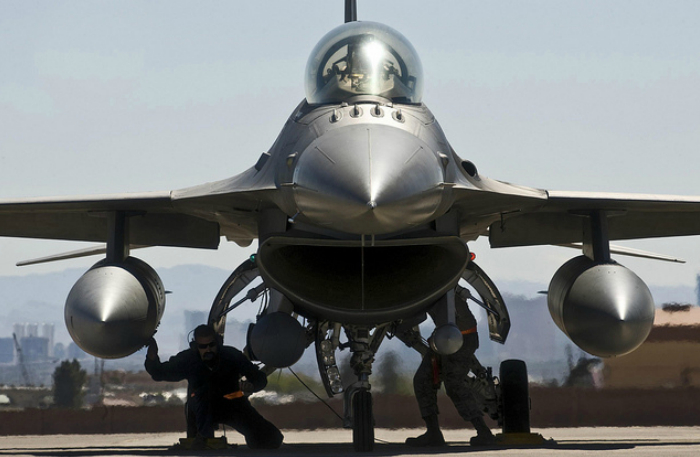American multifunctional lightweight fighter - Lockheed Martin F-16 Fighting Falcon.
