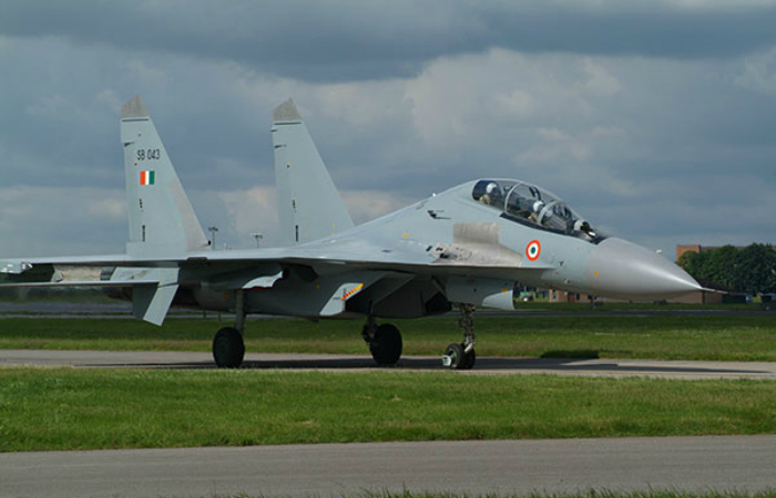 Lightning fighter aircraft - Su-30MKI (Flanker-H).