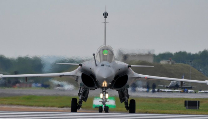 French fourth generation multi-role fighter - Dassault Rafale, manufactured by Dassault Aviation.