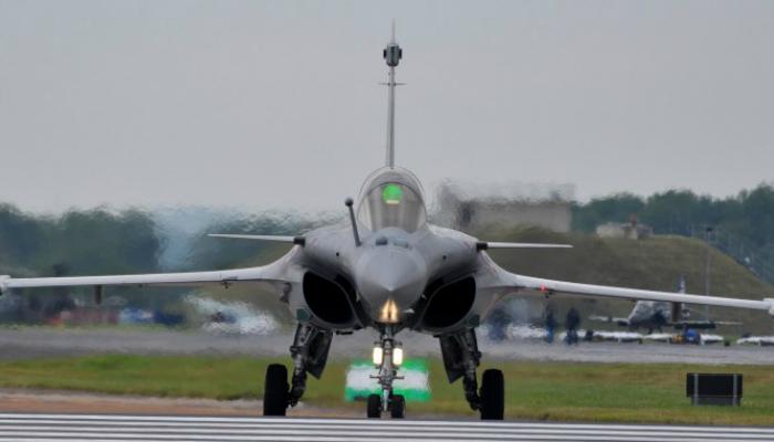 French fourth generation multi-role fighter - Dassault Rafale, manufactured by Dassault Aviation.