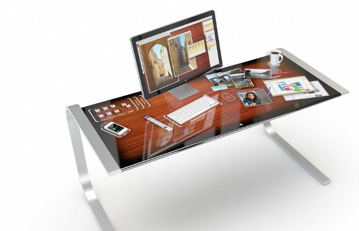 Новый функциональный концепт рабочего стола - Apple iDesk от дизайнера Адама Бентона.
