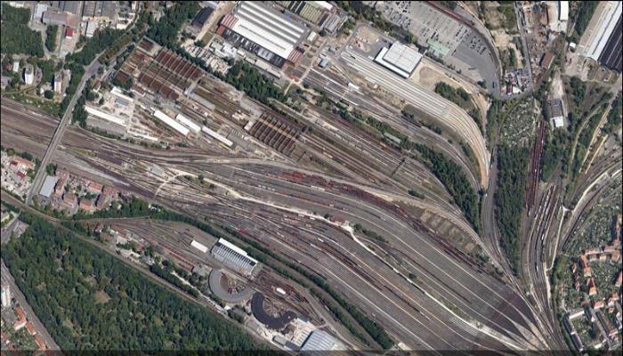 Сортировочная станция которая находится  в Германии, городе Нюрнберг.