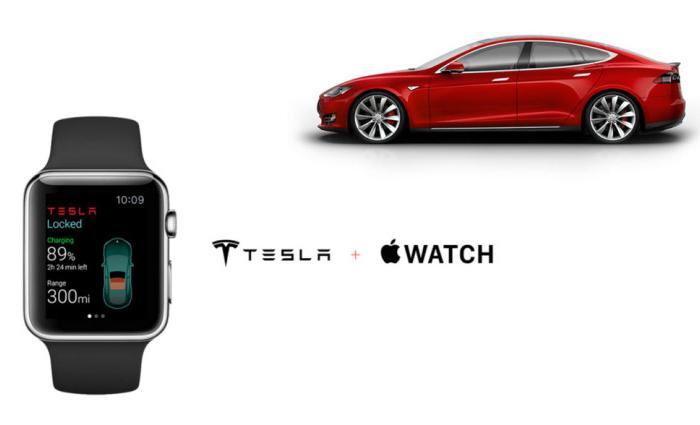 Apple Watch позволяет дистанционно управлять электрокаром Tesla от украинских разработчиков.
