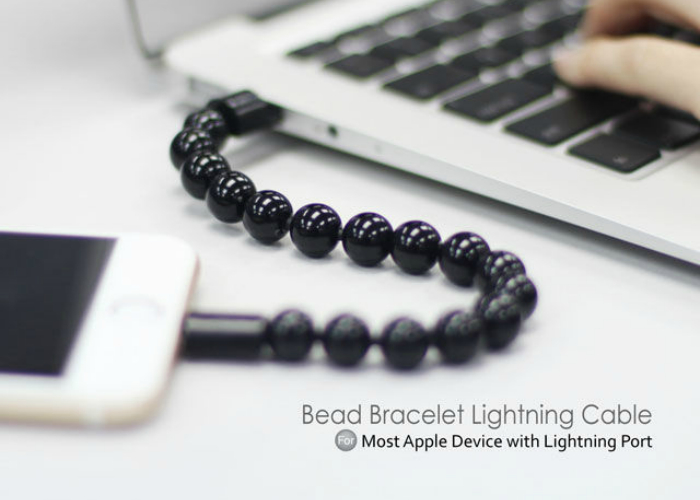 Cтильный USB браслет - Bead Bracelet Lightning Cable.