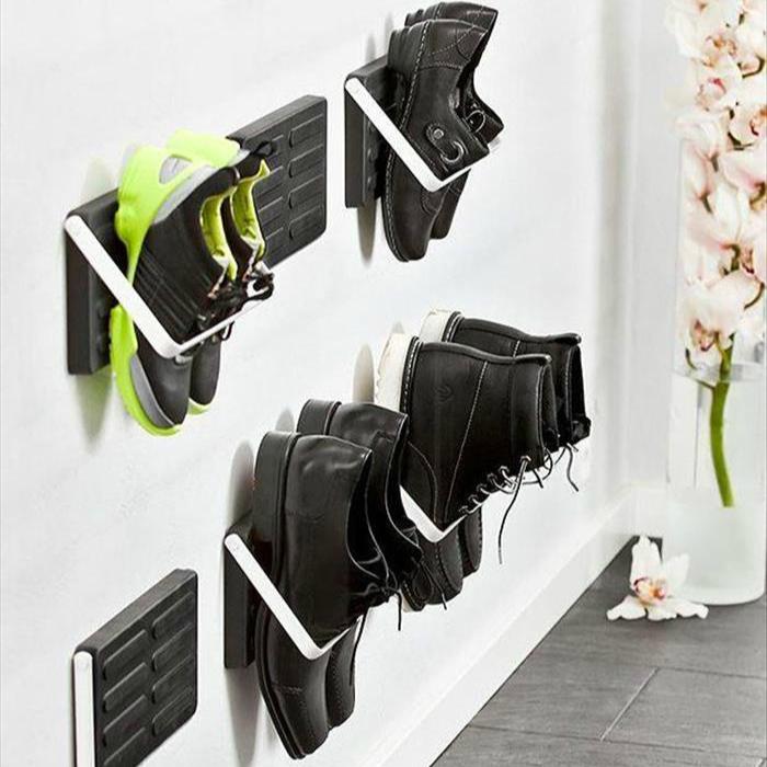 Необычные удобные вешалки для обуви.