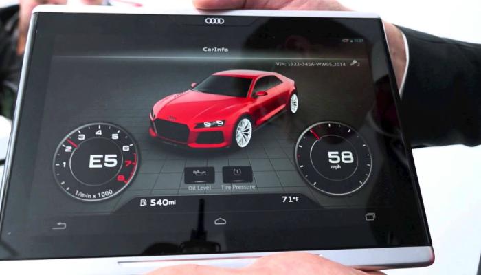 Немецкий автоконцерн Audi представил Smart Display, работающий под управлением  операционной системой Android.