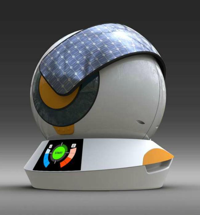 Необычная стиральная машинка созданная дизайнером Айвеном Дитерлом.