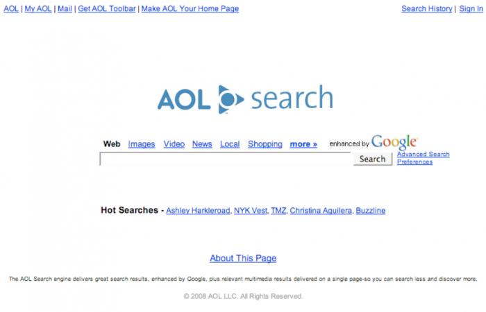 Метапоисковая интернет система под названием - AOL Search.com.