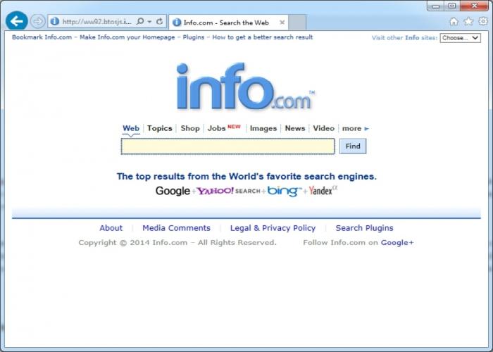 Британская метапоисковая интернет система - Info.com.
