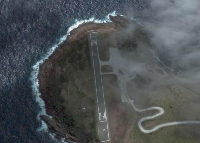 Аэропорт Juancho E. Yrausquin, остров Саба.