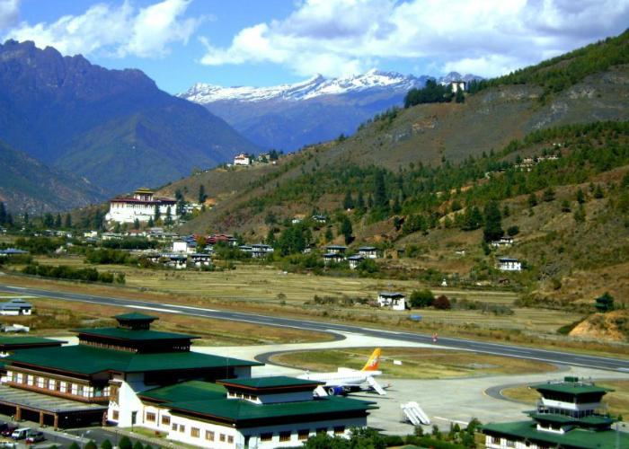 Аэропорт Paro, Королевство Бутан.