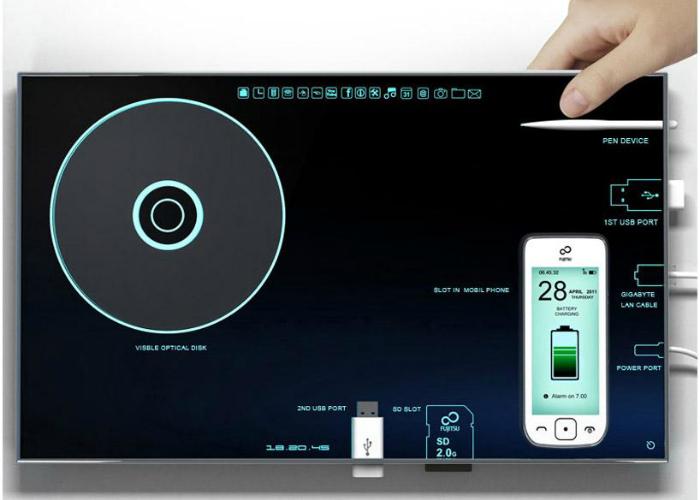 Практичный планшетный компьютер - <B>Nesting PC</B> от итальянского дизайнера Соно Моччи.