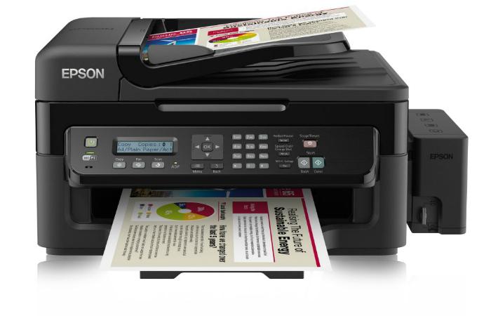 Функциональный принтер под названием - Epson Eco Tank L555.