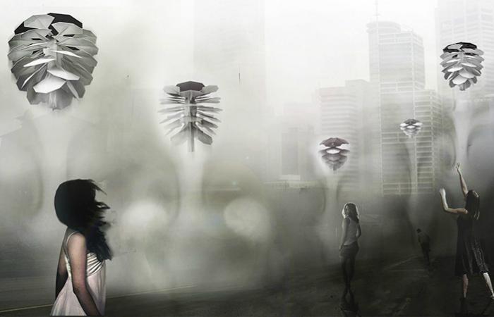 Летающая медуза воздухоочиститель.