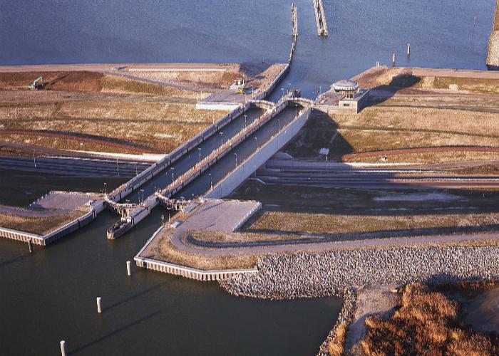 Акведук Krabbersgat, Нидерланды.