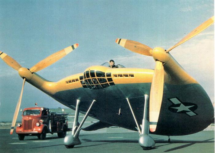 Функциональное воздушное судно под названием - Vought V-173.