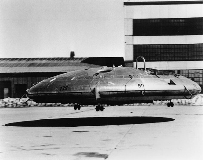 Летающая тарелка под названием - VZ-9-AV Avrocar от компании Avro Aircraft Ltd.