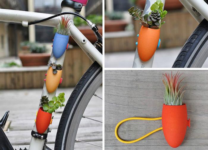 Велосипедная подвеска с цветами от Коллин Джордан.