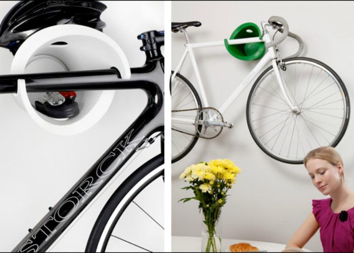 Новое крепление изготовлено для комфортного хранения велосипеда в дома.