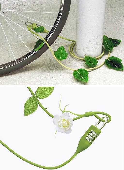 Дизайнерский замок для велосипеда.