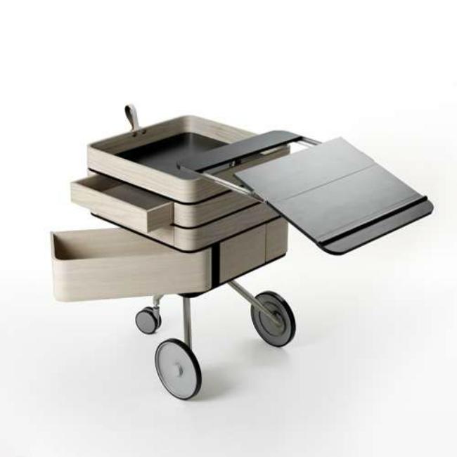 Это оригинальная раздвижная тумбочка в мгновенье ока трансформируется в мобильный стол для ноутбука.