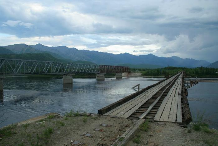 Одна из самых опасных дорог пересекающая реку под названием - Витим, которая находится в Сибири, Россия.