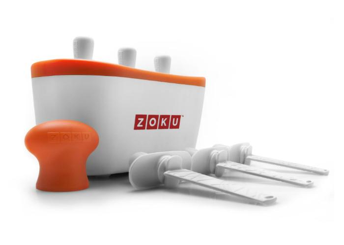 Полезный аппарат для приготовления мороженого под названием - Zoku Quick Pop Maker.