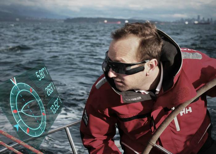 Компания Recon Instruments разработала специальные очки Afterguard с персональным монитором, отображающие скорость судна, направление ветра и другие параметры, для уточнения которых раньше требовалось отвлекаться от управления яхтой.