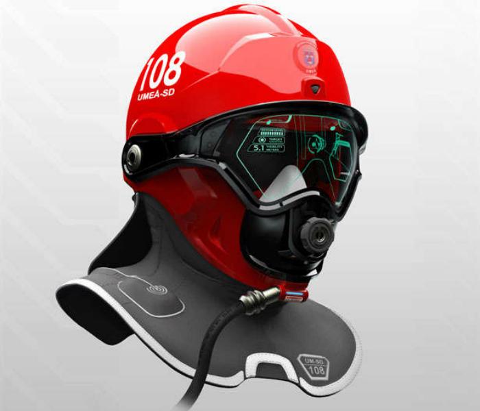 Шлем оснащен технологией каркасной подсветки, которая помогает пожарному видеть очертания объектов, обычно скрывающиеся в дыму и сокращает время разведки. Встроенная коммуникационная система освобождает руки, которые могут быть заняты устройствами связи — рацией или телефоном.