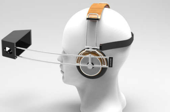 Дизайнер Mike Enayah представил концепт наушников с интегрированным кронштейном для iPhone, что превращает устройство в некий аналог очков виртуальной реальности. В конструкции использован металл, дерево, и пластик.