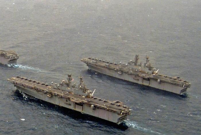 Десантный корабль Соединенных Штатов Америки Уосп.
