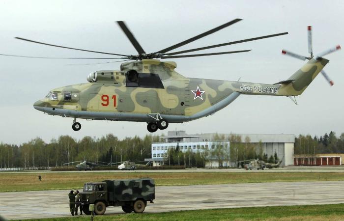 Многоцелевой тяжелый транспортный вертолет под названием - Ми-26.