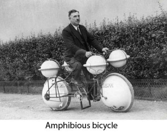 Необычный велосипед амфибия под названием - Cyclomer.