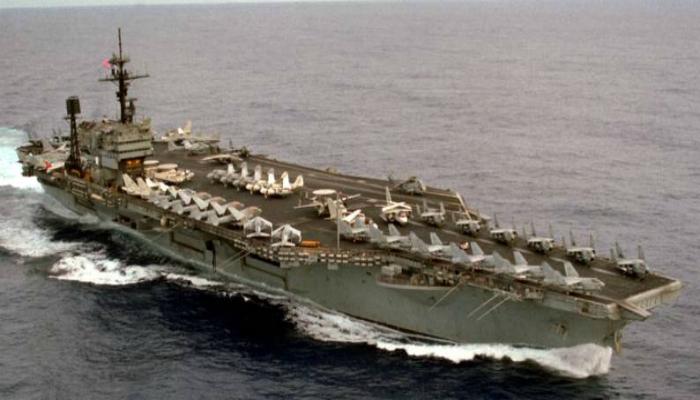 Американский военно-морской авианосец под названием - Джон Кеннеди.