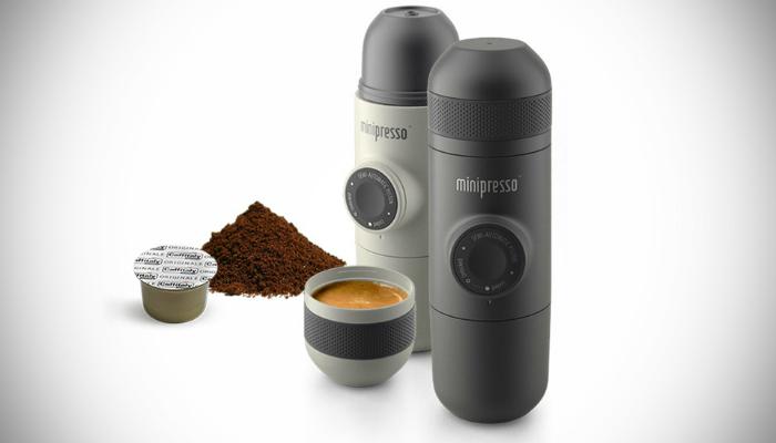 Компактная походная кофемашина под названием - «Minipresso».