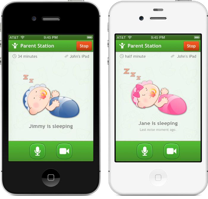 Функциональное мобильное приложение, которое следит за действиями младенца под названием - CodeGoo's Baby Monitor.