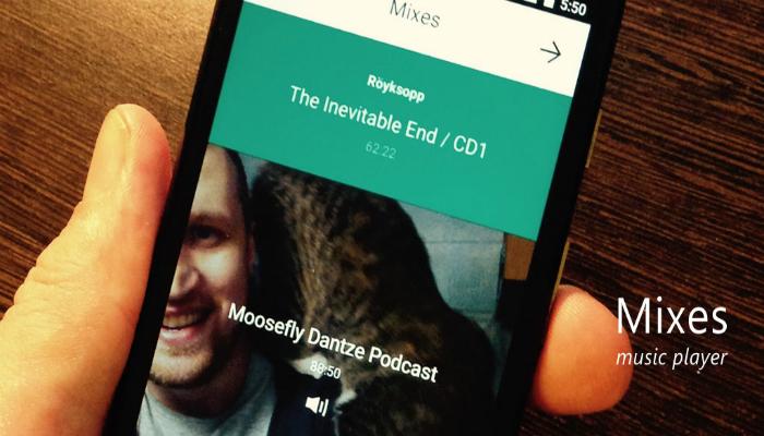 Функциональное мобильное музыкальное приложение под названием - Mixes Player.
